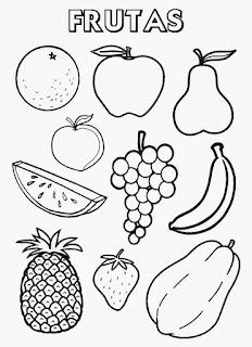 Desenhos De Frutas Para Colorir