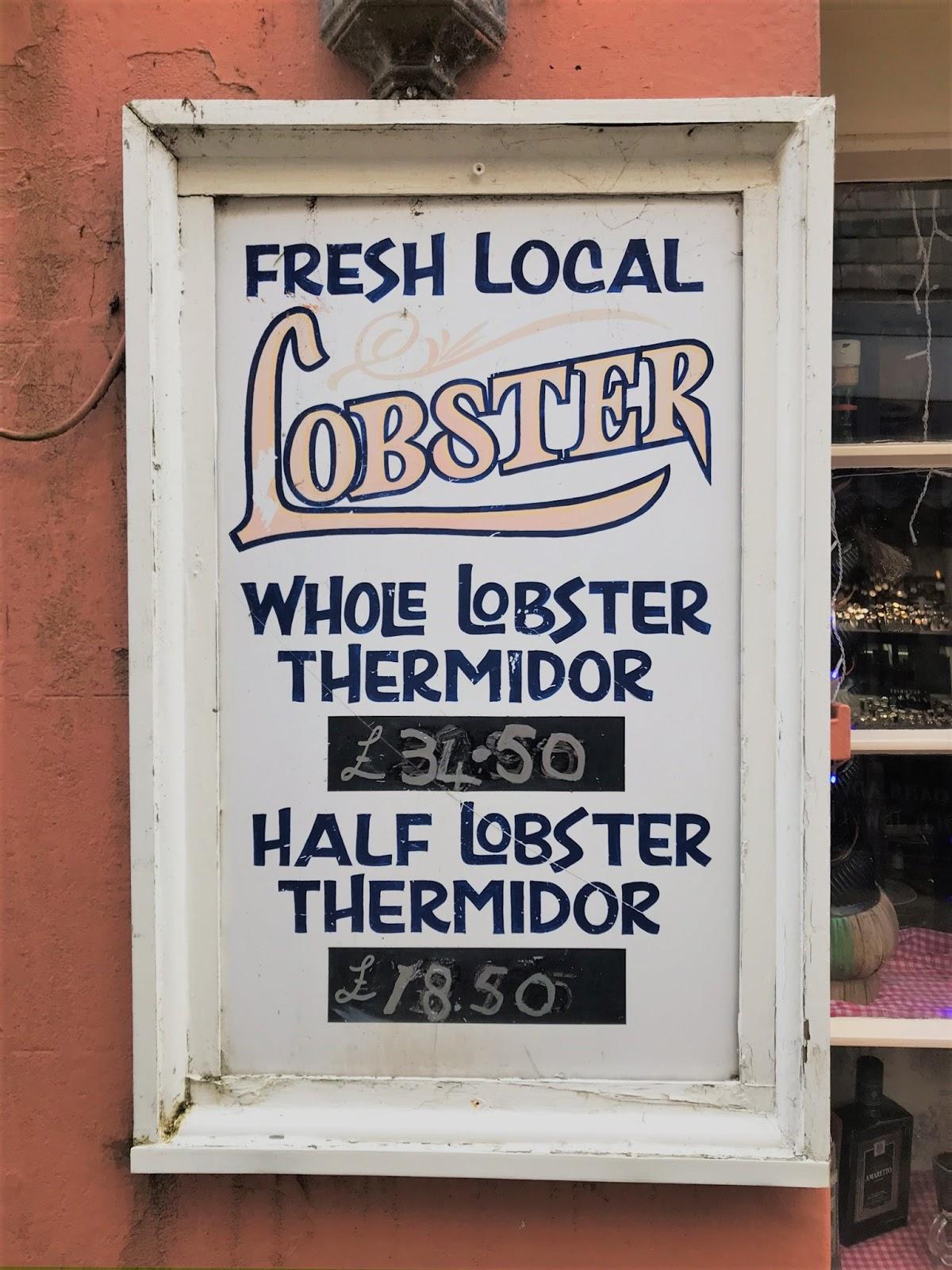 Fresh lobster, Cornwall