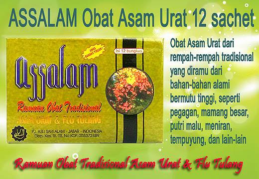 Assalam Asam Urat adalah obat hasil ramuan rempah-rempah tradisional