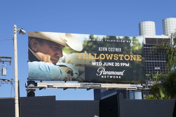 Kevin Costner Yellowstone series premiere billboard