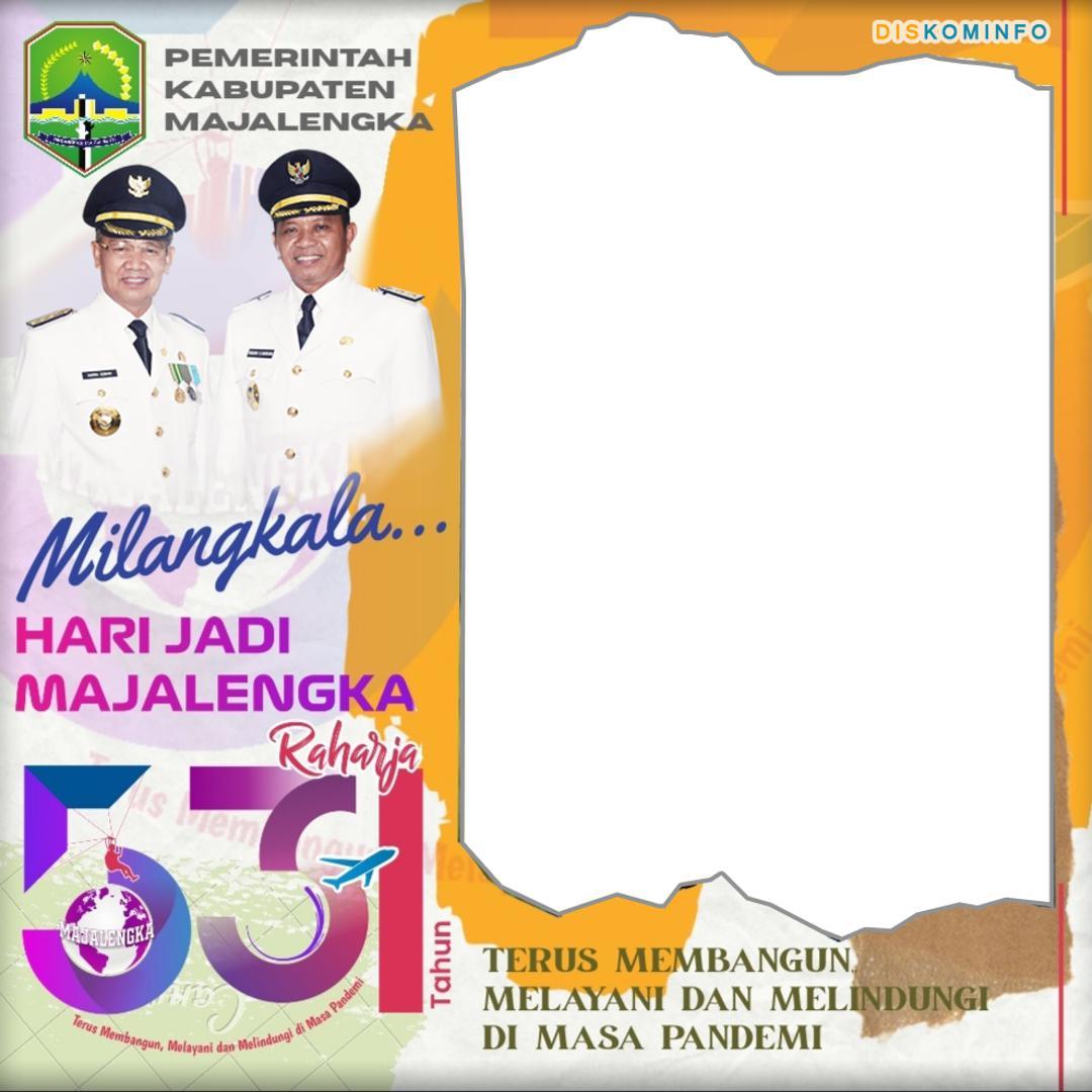 Template Desain Bingkai Foto Twibbon Hari Jadi Kabupaten Majalengka 2021