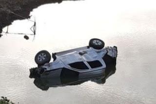 11 pessoas ficam feridas após carro cair em açude no interior da Paraíba