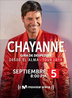 Concierto de CHAYANNE en Bogotá, Colombia