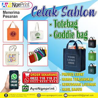 Cetak Sablon Tas Totebag dan Goodie Bag Murah di Kalideres, Jakarta Barat