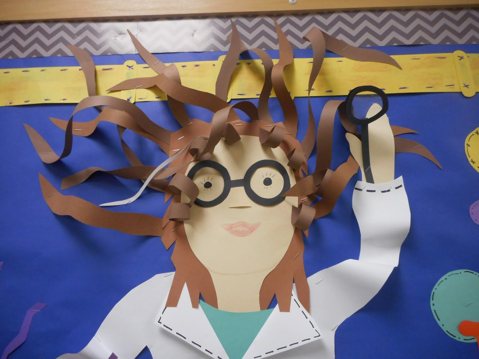 Science Bulletin Board! Here's lady scientist part of my mad scientist board!