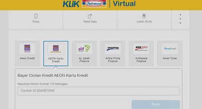 klik virtual indomaret untuk cek angsuran aeon secara online