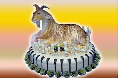 Bánh sinh nhật hình con dê vô cùng dễ thương