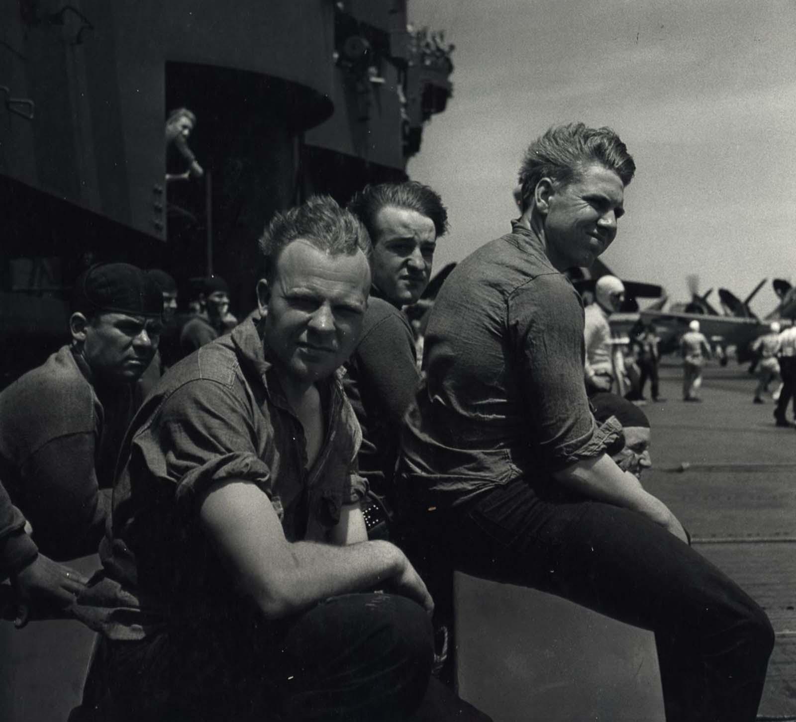 Plane Handlers, c. 1943.