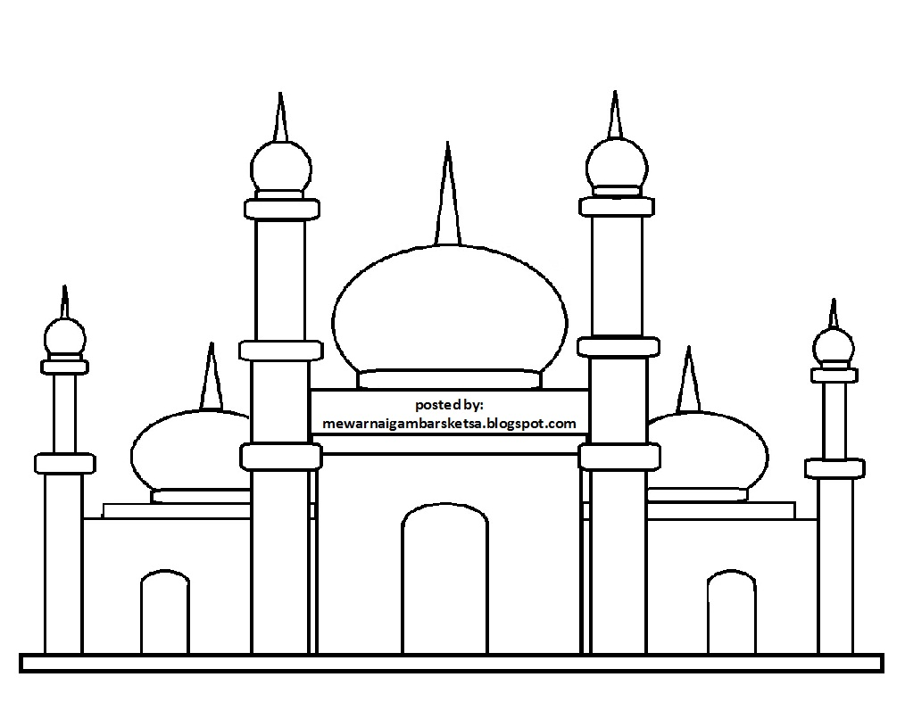 Sketsa Gambar Masjid Sederhana Untuk Anak Tk Nusagates