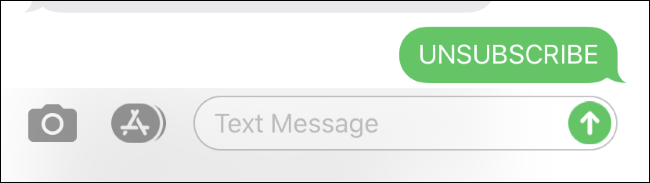 إلغاء الاشتراك من قائمة الرسائل النصية على iPhone.