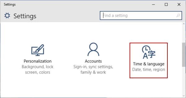 Tắt / bật Đặt thời gian tự động trong Windows 10