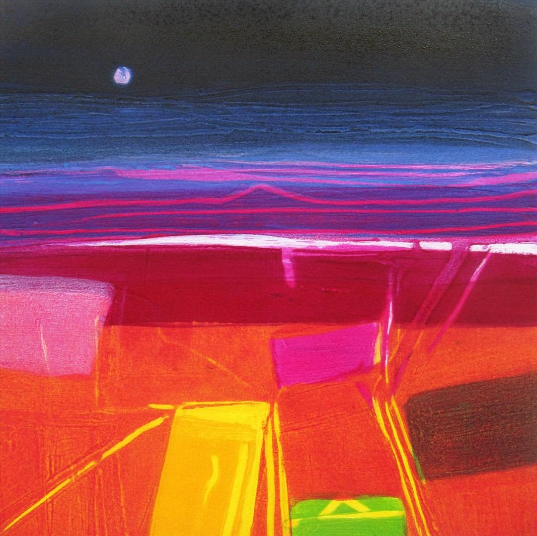 Barbara Rae RA - Night Sky - Priestlaw (carborundum print, edition of 30) - Royal Academy Summer Exhibition 2021 - London lifestyle & culture blog