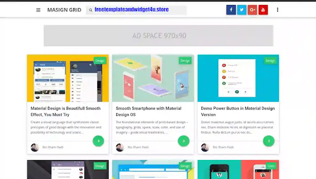 Masign Grid -Latest Version Premium Blogger Template Free Download.