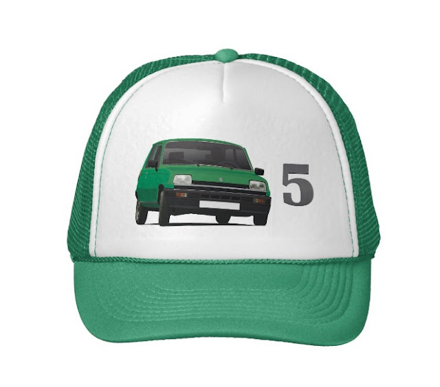 Renault 5 green trucker hat
