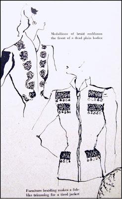 1941 British Vogue fashion illustration