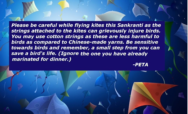Happy Makar Sankranti! A message from PETA: