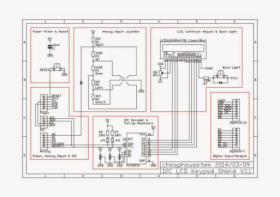 cheaphousetek schematic and photo of arduino pcf8574 i2c. Black Bedroom Furniture Sets. Home Design Ideas