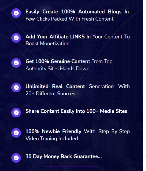 What is the benefit of Blogzi software for online business, blogging , traffic, Sales, etc?