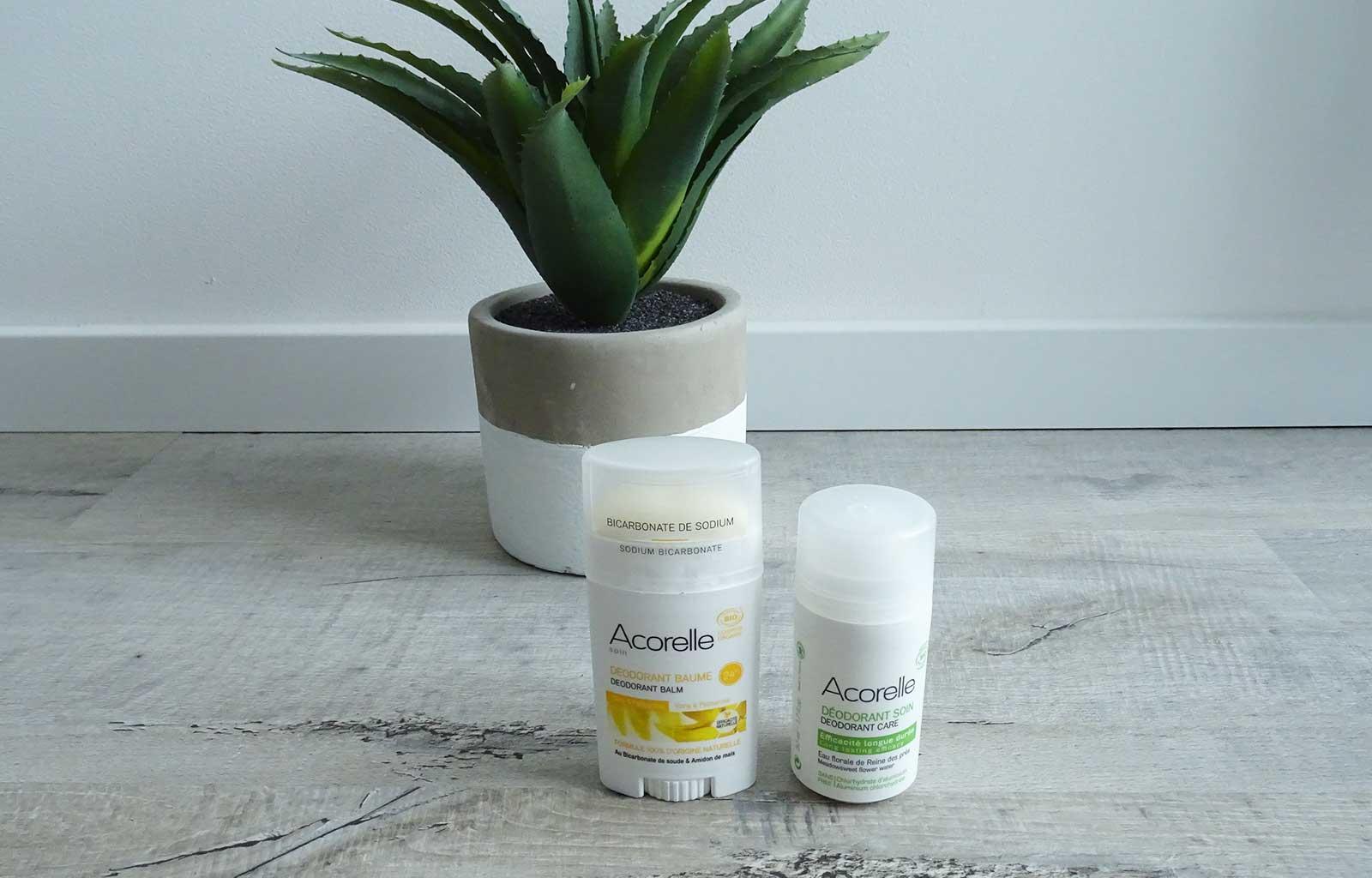 déodorants naturels bio acorelle