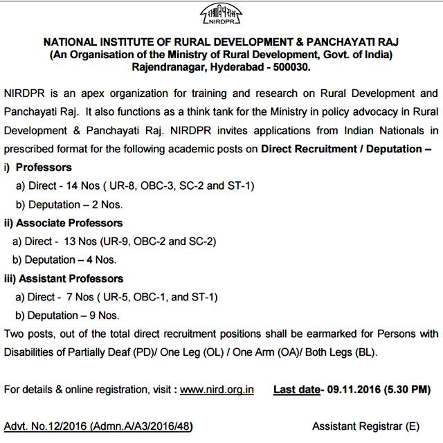 www.nird.org.in Recruitment