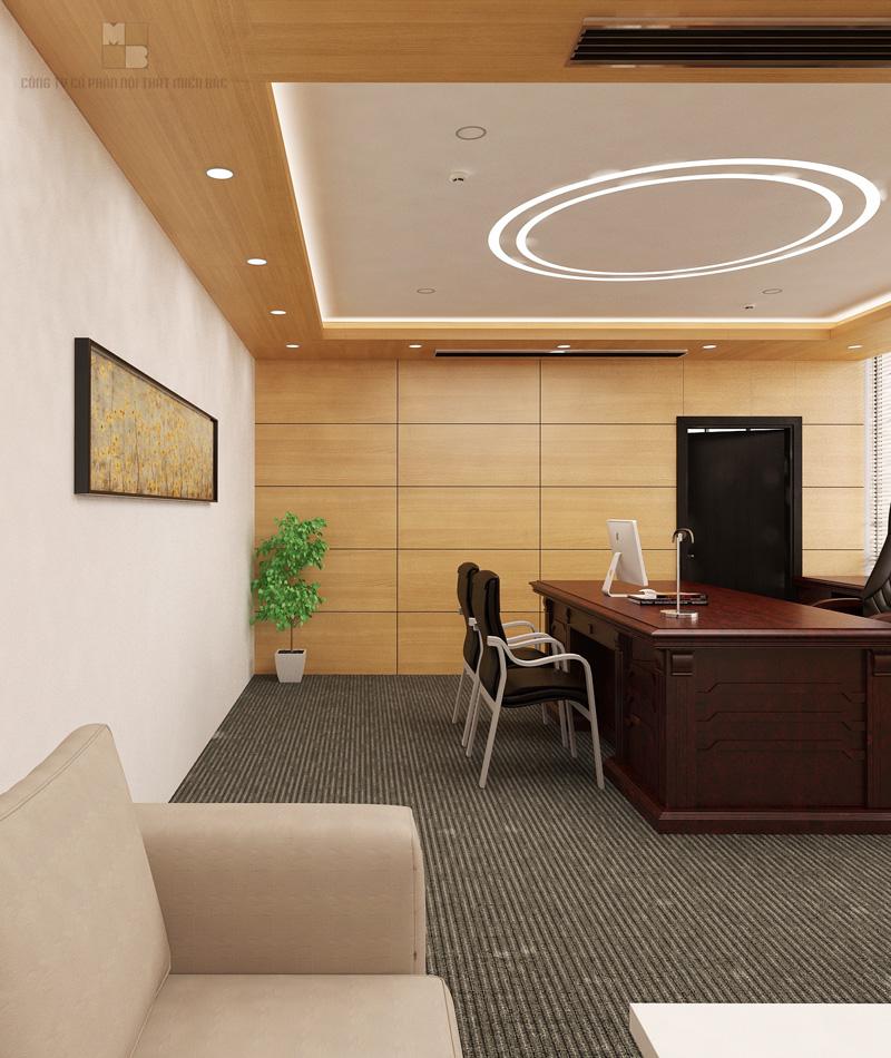 Thiết kế nội thất văn phòng cao cấp màu sắc hài hòa