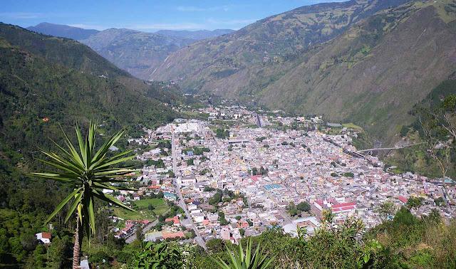 Vista da cidade de Baños – Equador