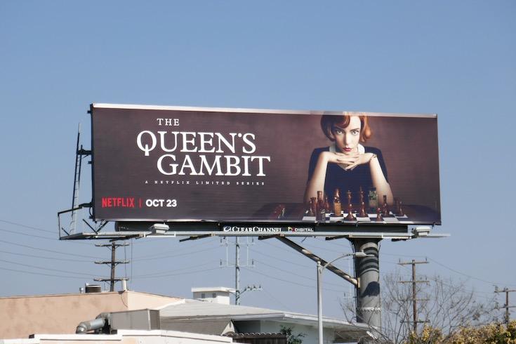 Queens Gambit TV series billboard