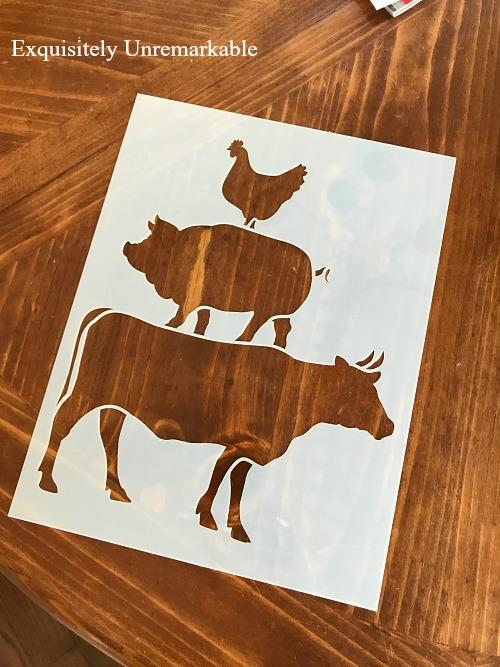 Cow Chicken Pig Stencil