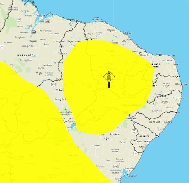 Inmet emite alerta de baixa umidade para 70 cidades do RN; veja lista