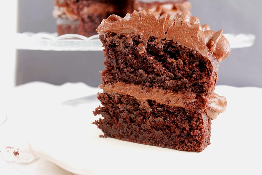 Receta Layer cake de chocolate y buttercream de chocolate