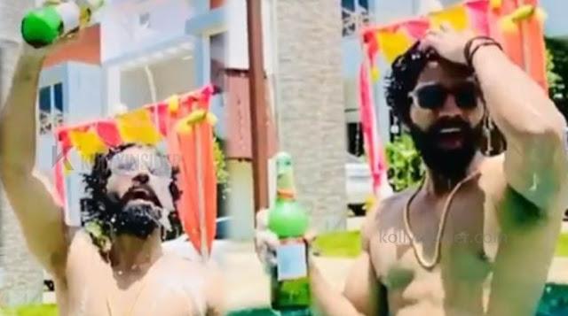 Bigg Boss Balaji Murugadoss Beer bath