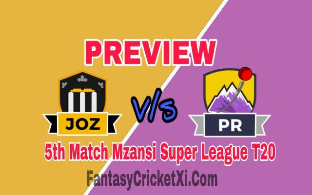 JOZ V/s PR 5th T20 Match Dream11 Team Prediction