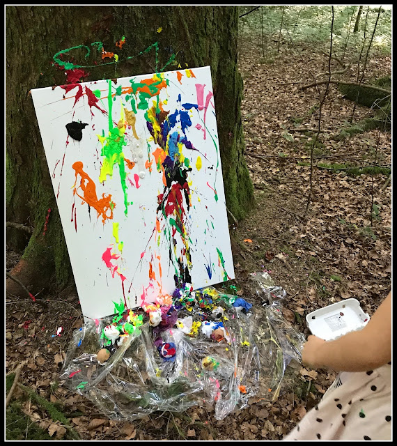 peinture explosion oeufs