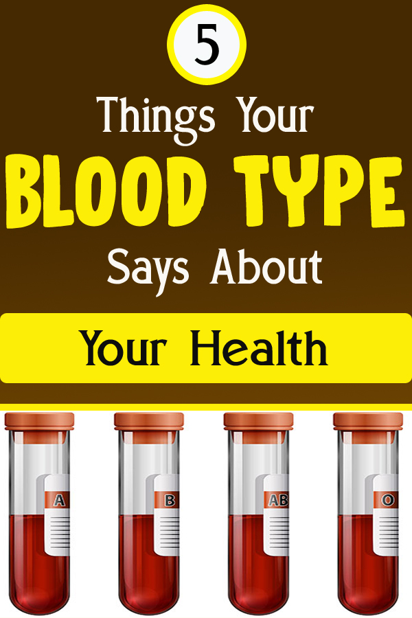 5 Things Your Blood Type Says About Your Health