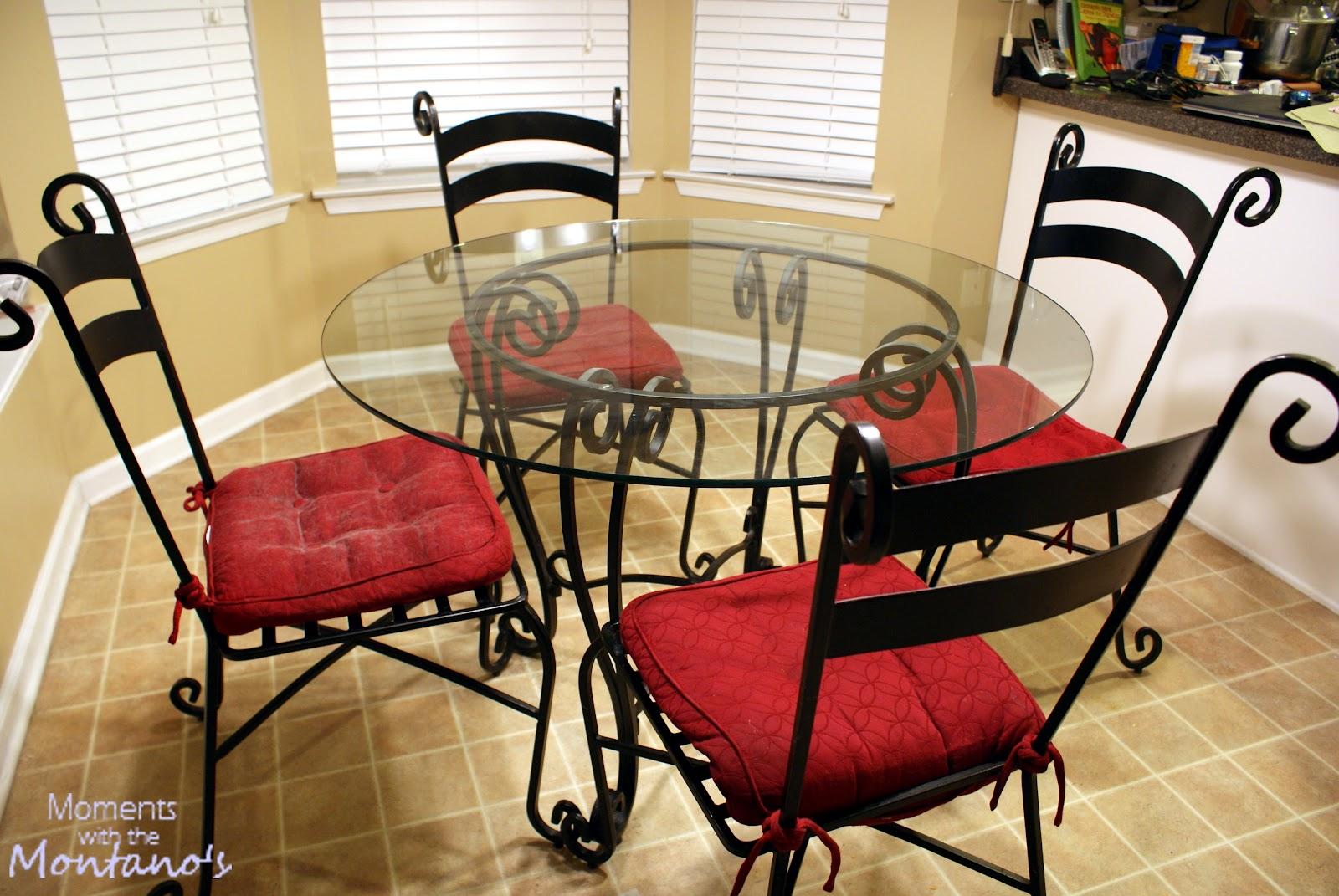 ode to our kitchen table wrought iron kitchen chairs An Ode to Our Kitchen Table