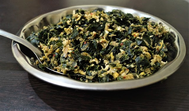Drum stick leaves stir fry/ Muringa Ela Thoran