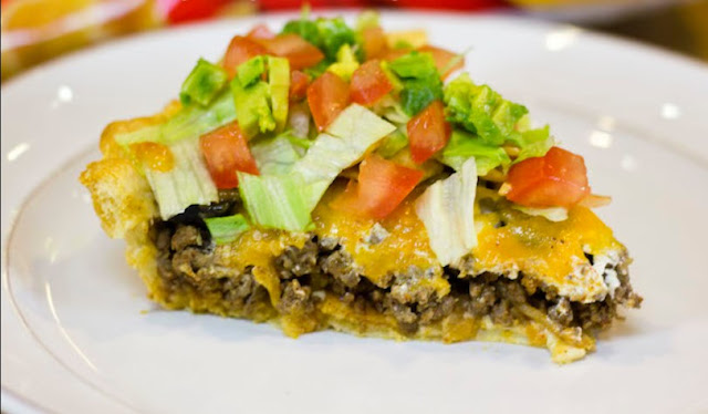 Frito Taco Pie With A Crescent Dough Crust #easyrecipe #dinner