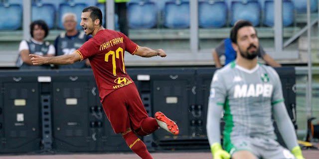 The results of the match AS Roma vs Sassuolo Score 4-2