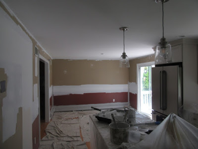 prepping kitchen for painting.