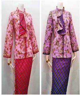baju batik pramugari modern