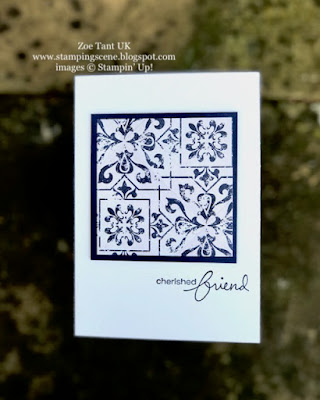 simple stamping with Zoe Tant UK Demo Stampin Up