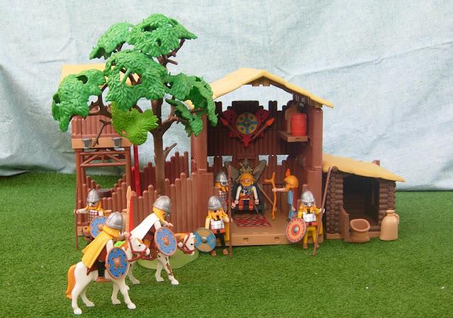 Playmobil custom Viking houses