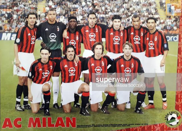 POSTER TEAM AC MILAN 2002