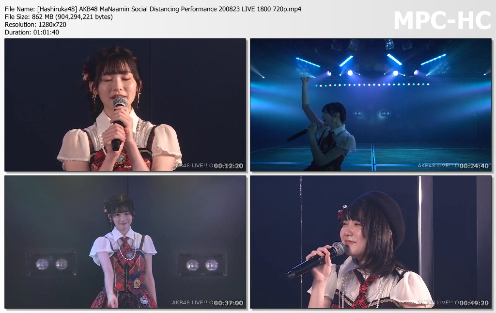 AKB48 MaNaamin Social Distancing Performance 200823 LIVE 1800