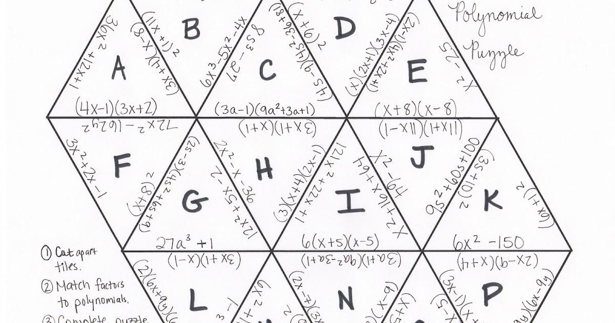 i is a number: Factoring Polynomials Tarsia