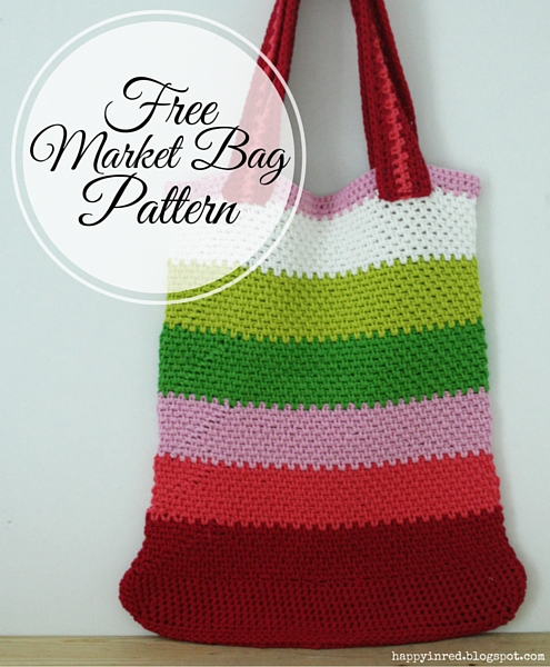 Free Crochet Patterns For Grocery Bags : Free crochet pattern: market bag in linen stitch - Happy ...