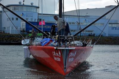 Jeff Pellet s'apprete à partir en pirate sur le Vendée Globe