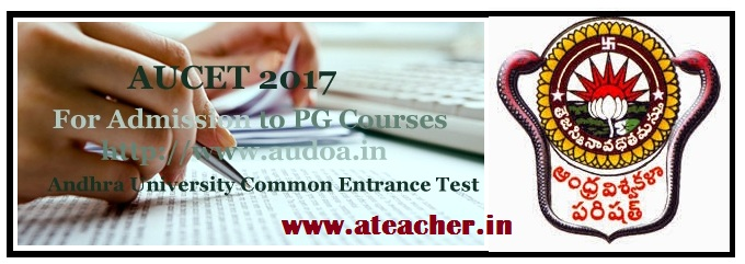 AUCET 2017 Notification