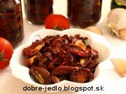 Domáce sušené paradajky - recept