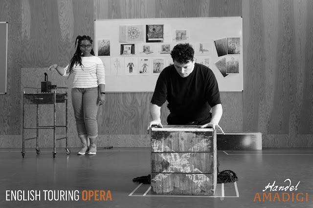 Handel: Amadigi di Gaula - rehearsal at English Touring Opera with Francesca Chiejina and TIm Morgan (Photo Bruno Miles)